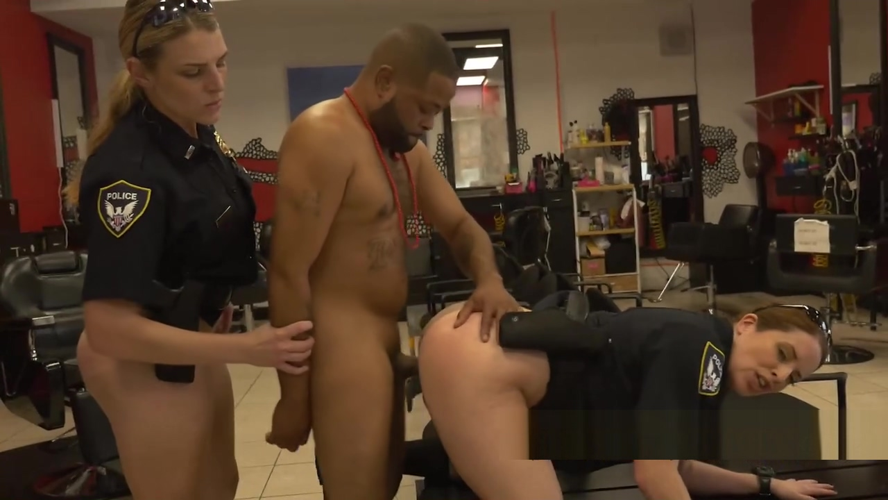 Barbershop gets some action when the police fucks a criminal Cute handjob twink