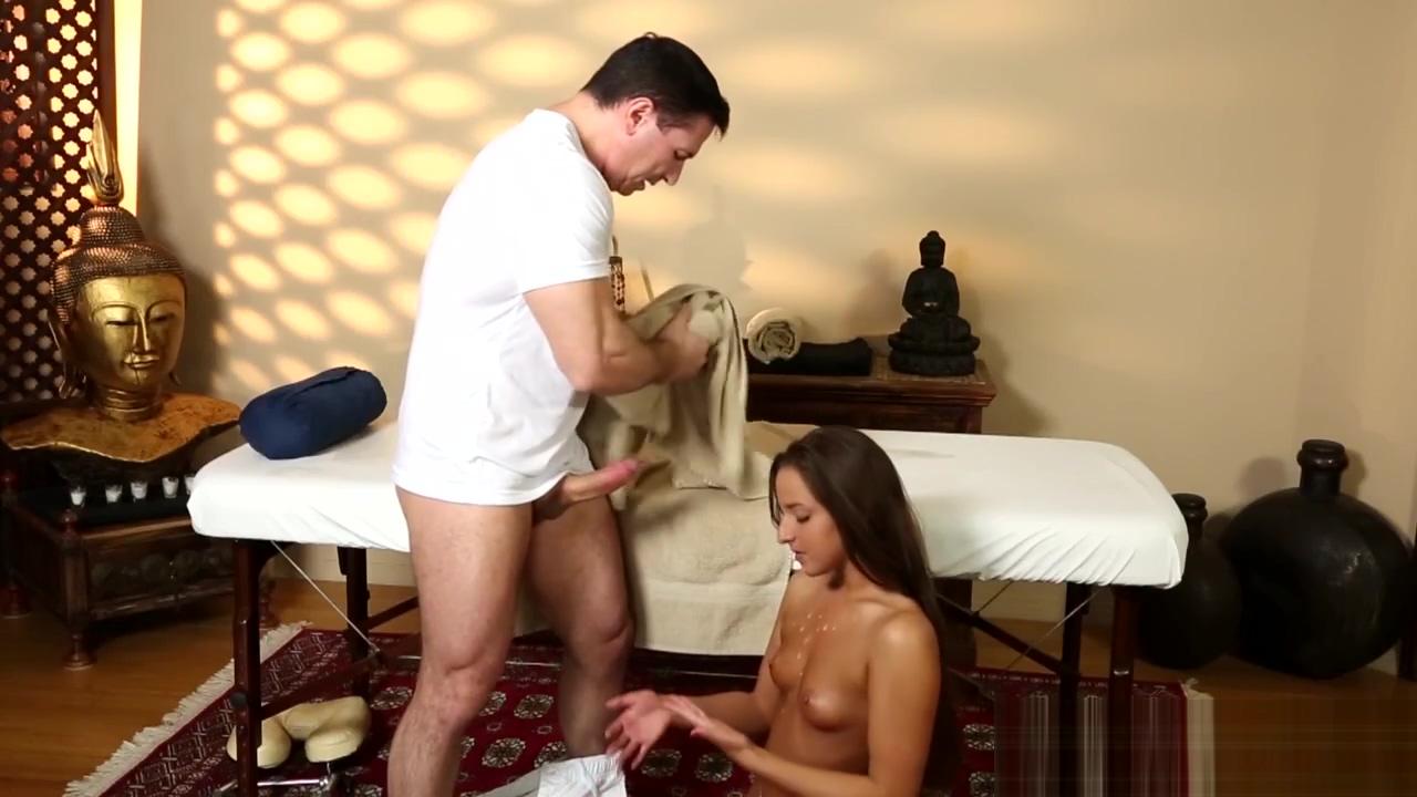 Massaged tits babe jizzed