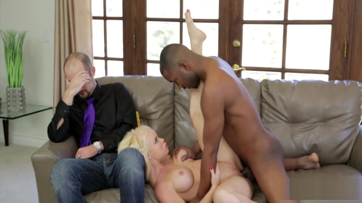 Blonde Mom has Interracial Cuckold Fantasy with Black Dude