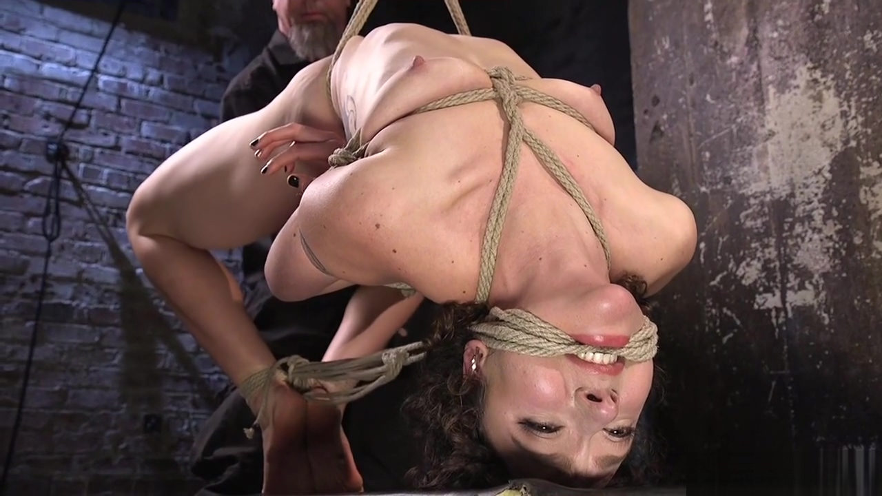 Brunette hogtied and fisted and fingered Ebony tongue fucking