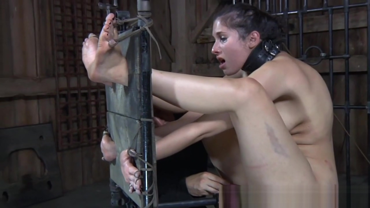 Toyed sub groped while suspended during bdsm Slut wife pussy abused