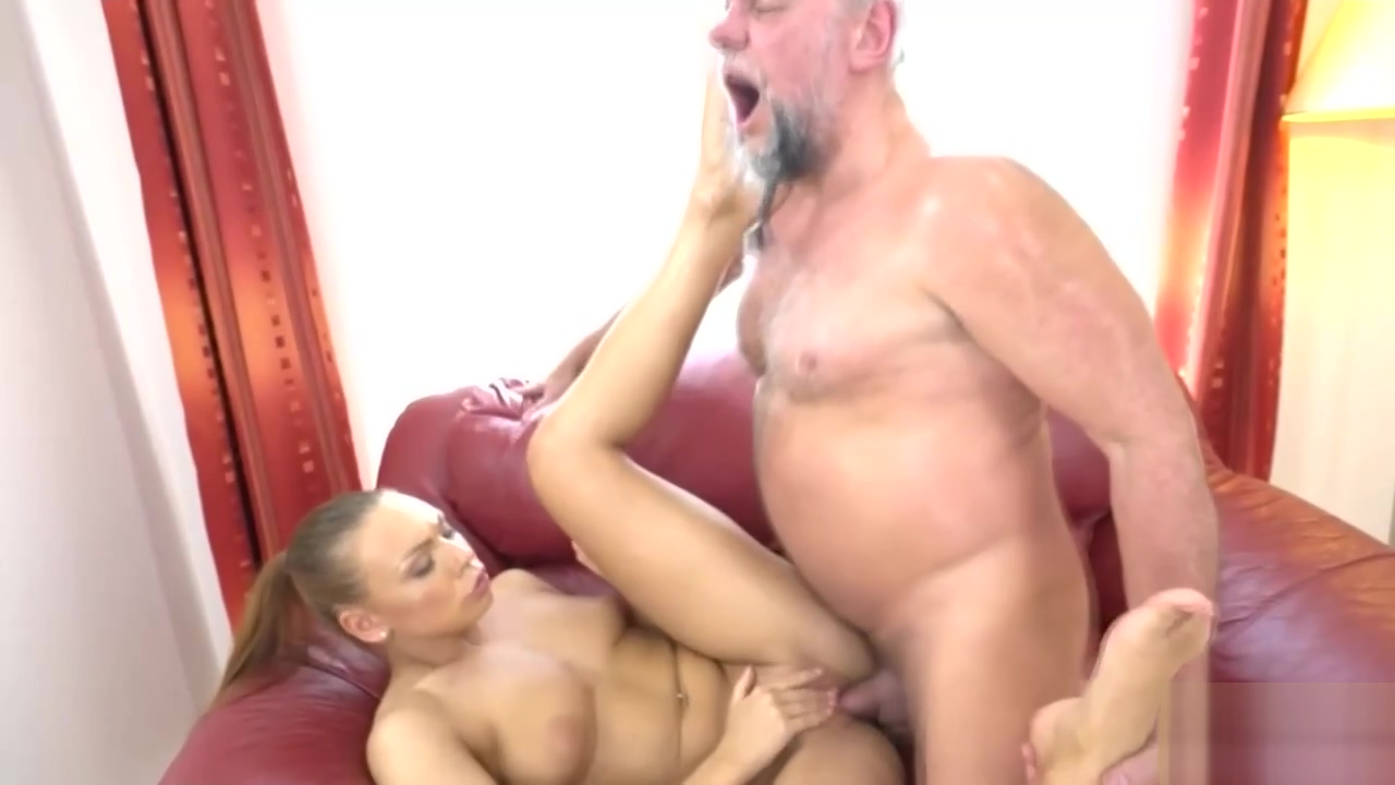 Beautiful brunette fucked by ugly grampa Tjick thighs big firm tits hot ass booty fucking