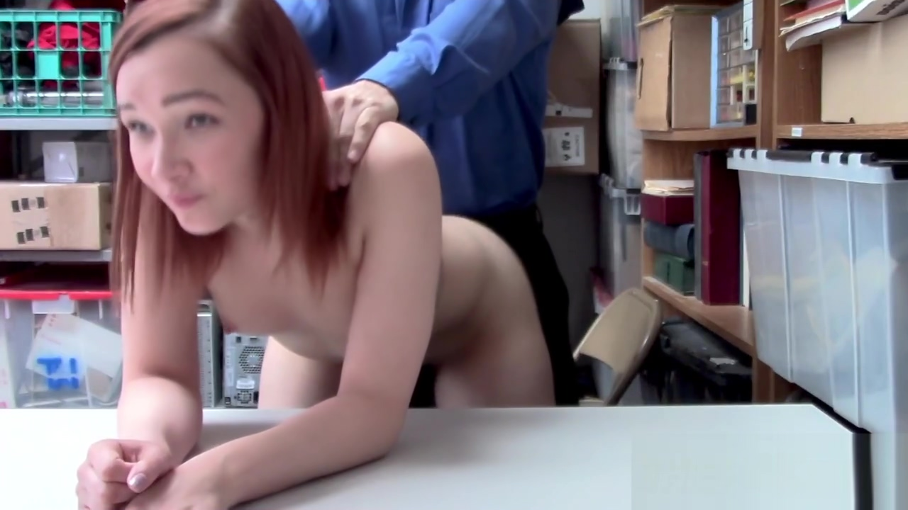 Redhead April hides stolen items very well from horny officer Wwe beautiful woman anus