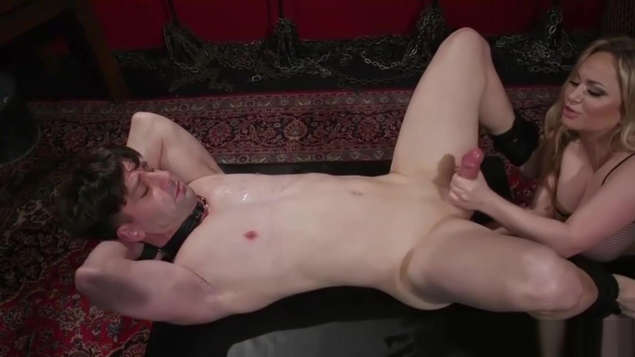Busty Blonde Domina Gives Her Slave a Hj Jennifer connely boob abbott