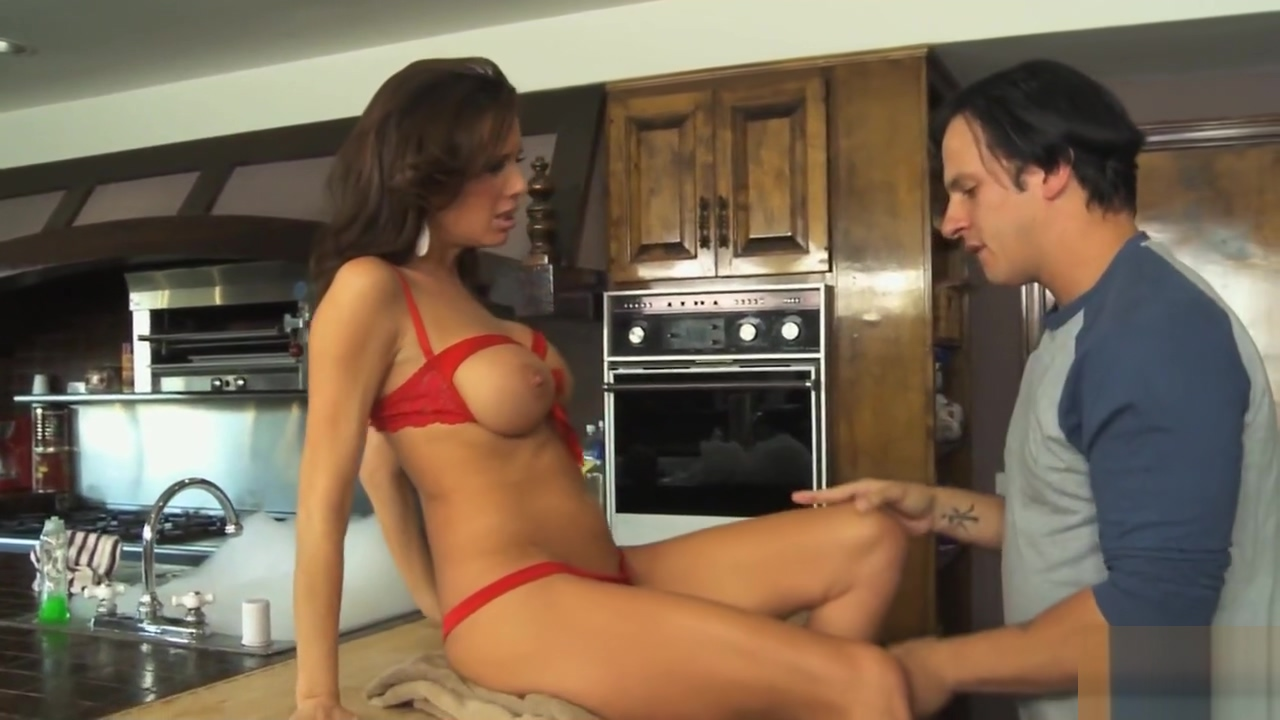 Busty cougar seduces horny stepson Itty Bitty Polka Dot Bikini