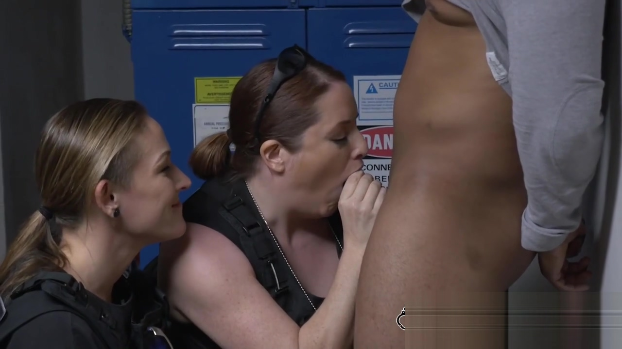 Cops take black criminal into locker room Busty babe plump older 04