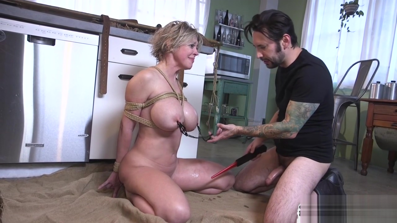 Hot blonde MILF dominated by cock