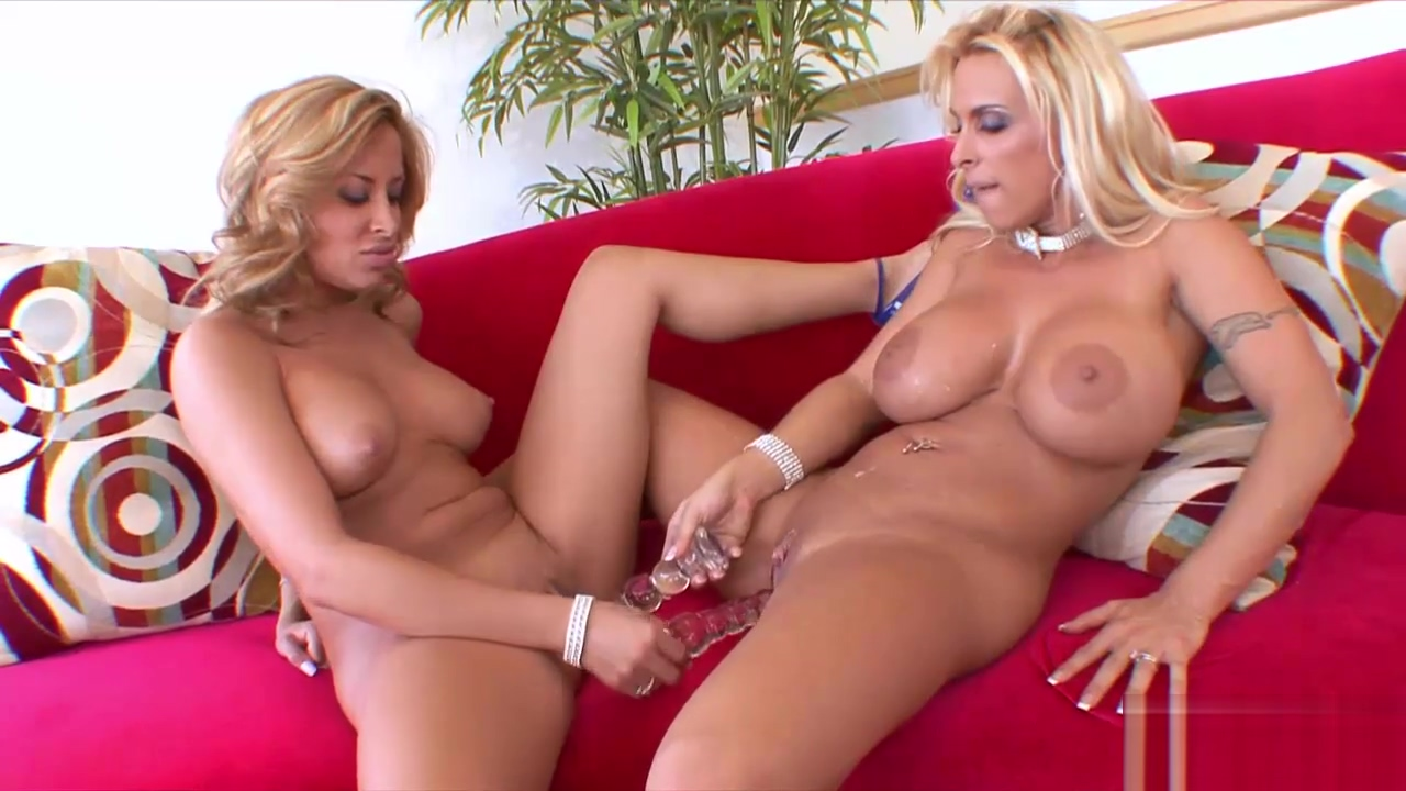 Horny blonde lesbians spice things up