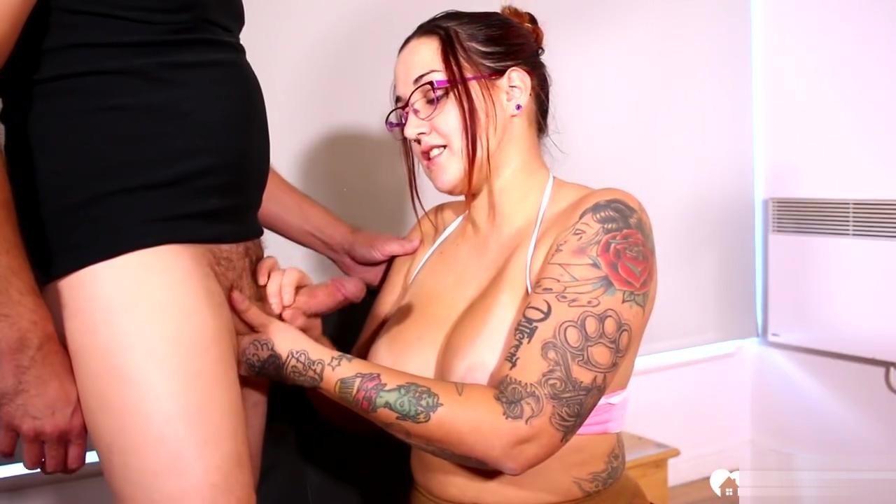 Astonishing tattooed stepmom helps with some sucking lesbians in high socks
