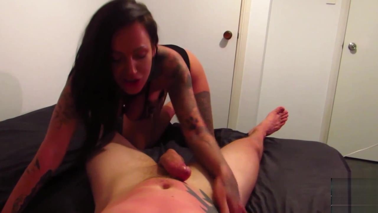 Nasty whore stepmom chantelle fox jerks you off and deepthroats your cock