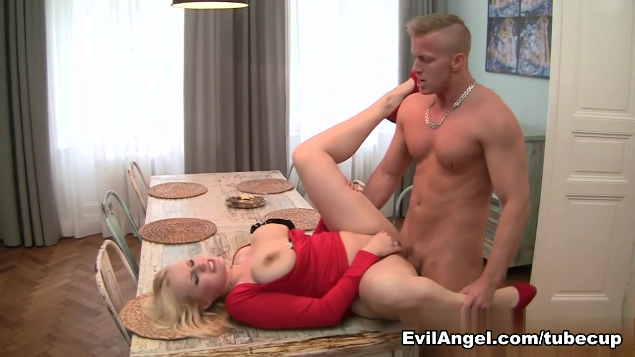 Horny pornstars Angel Wicky, Denis Reed in Incredible Blonde, MILF adult movie