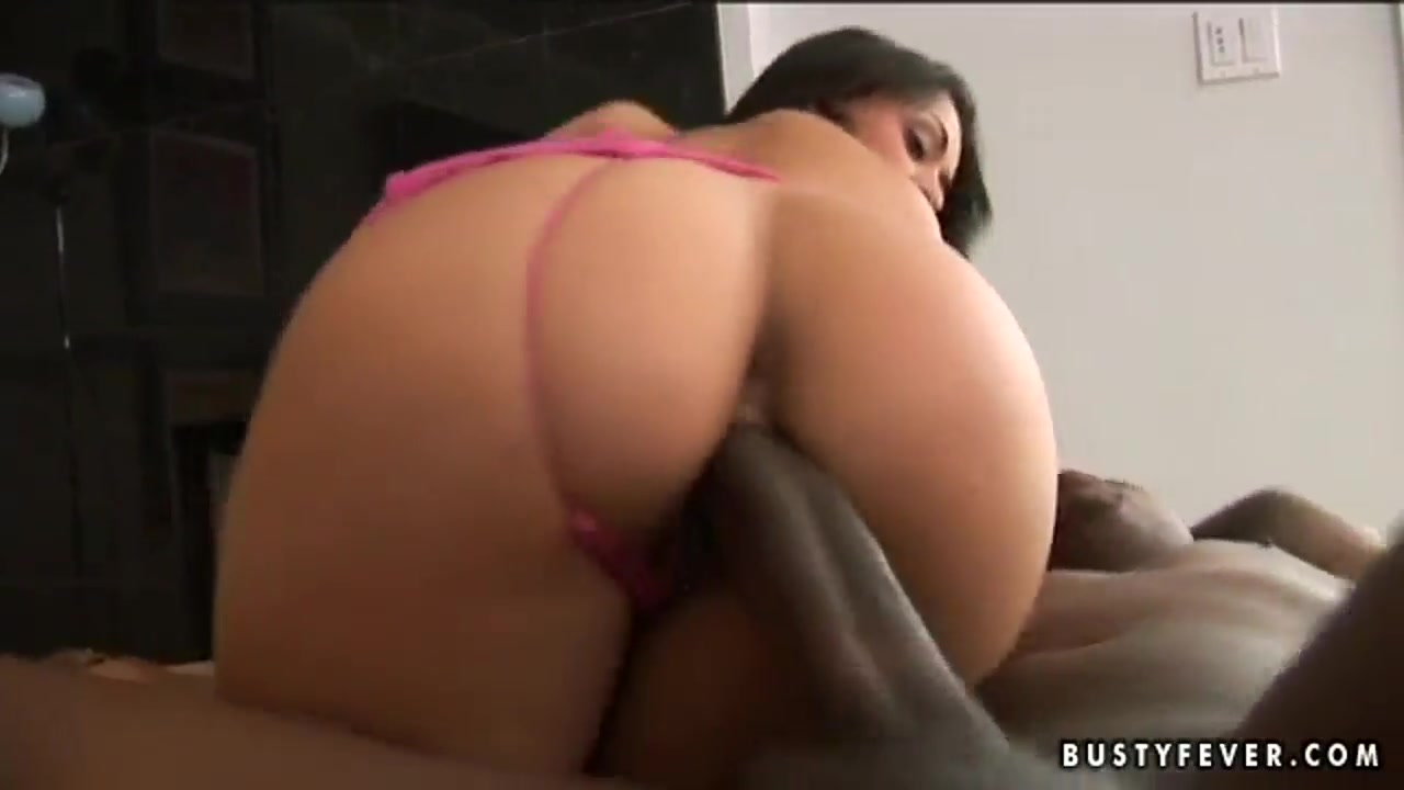 Buxom mulatto Charley Chase fucked by large and strong black dick