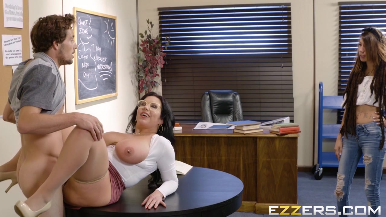 Sheridan Love In Our College Librarian 50 year old women having sex gif