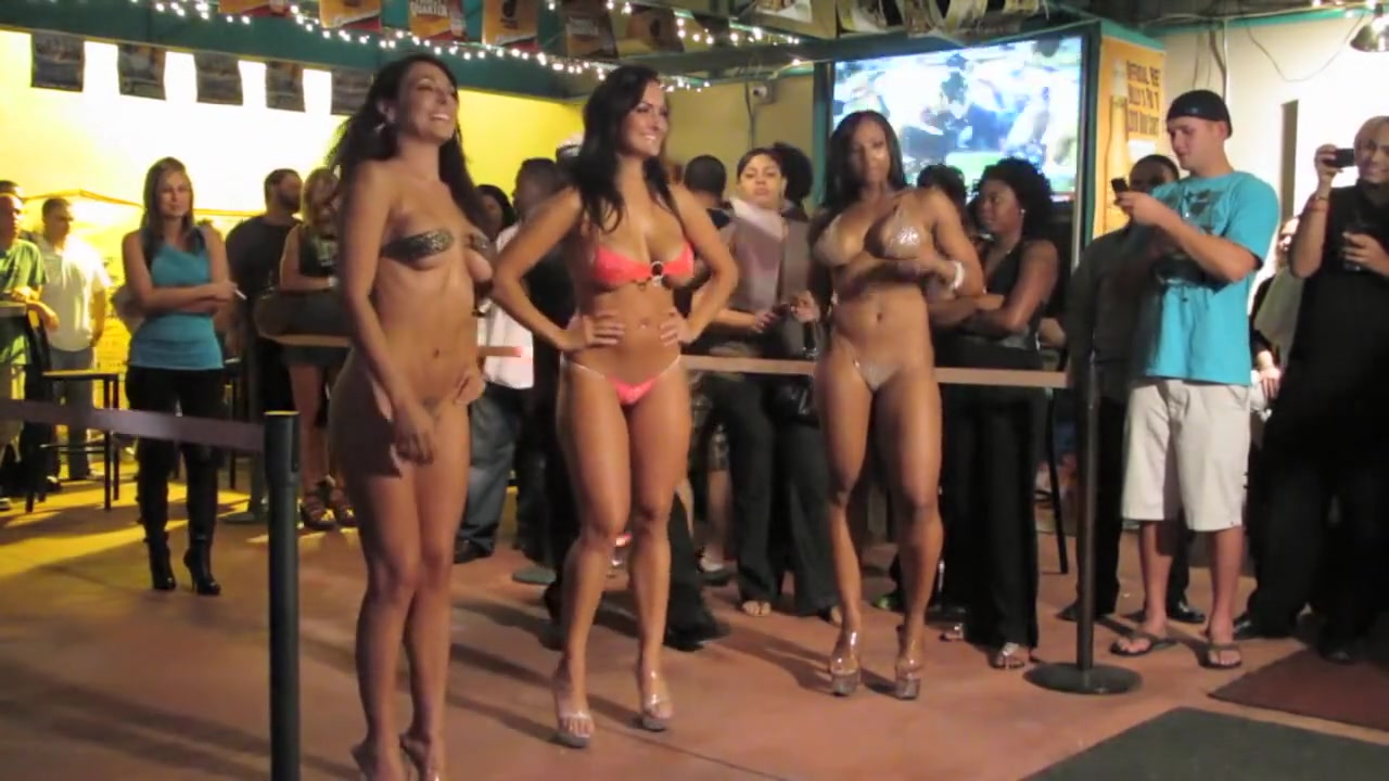 Nude Fashion Weekin The Pub Micro Bikini Full Final 8 vintage red wing boots