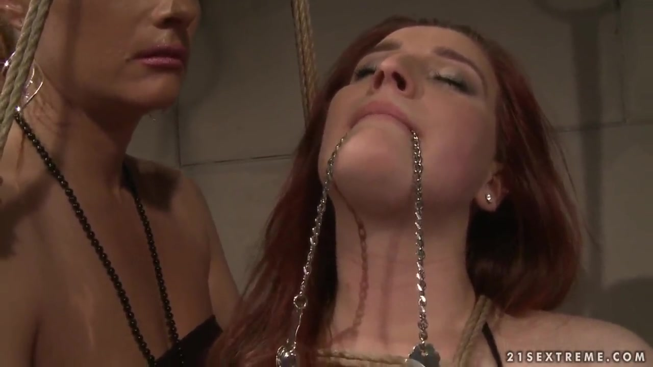 Katy Parker tortures tied up redhead Kyra Freshmen Gay