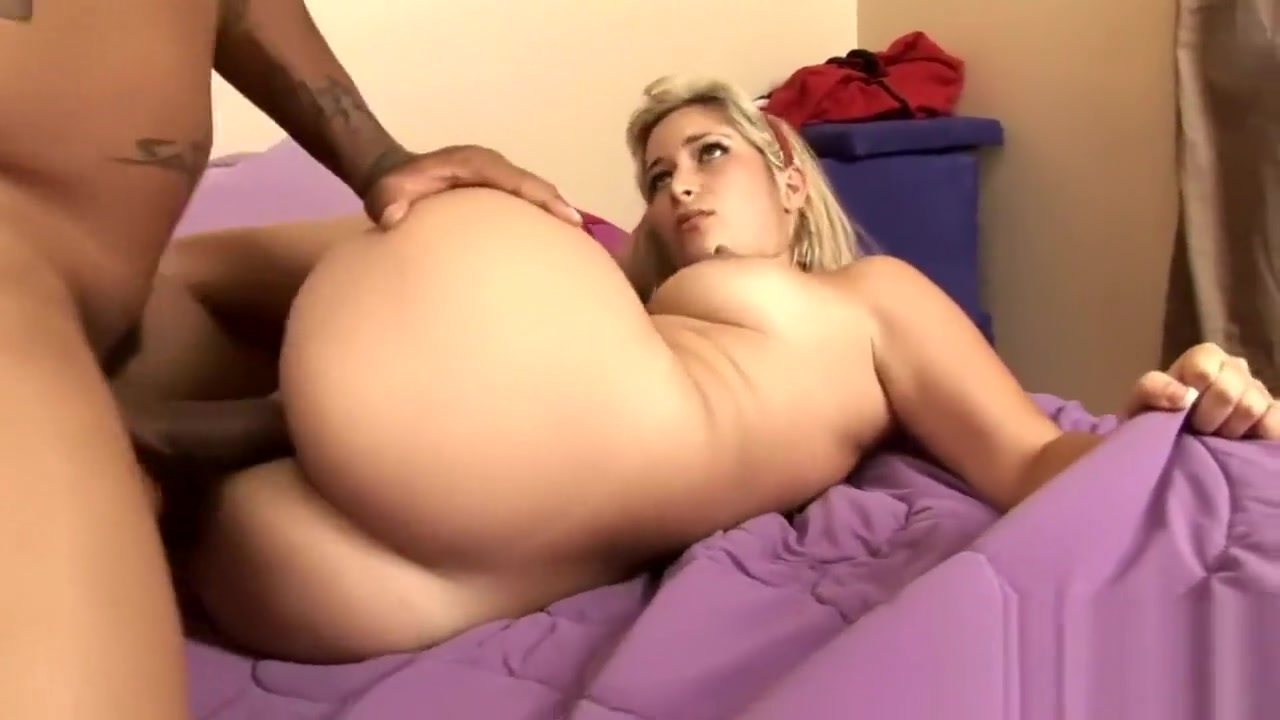 Kinky interracial action with a cute blonde