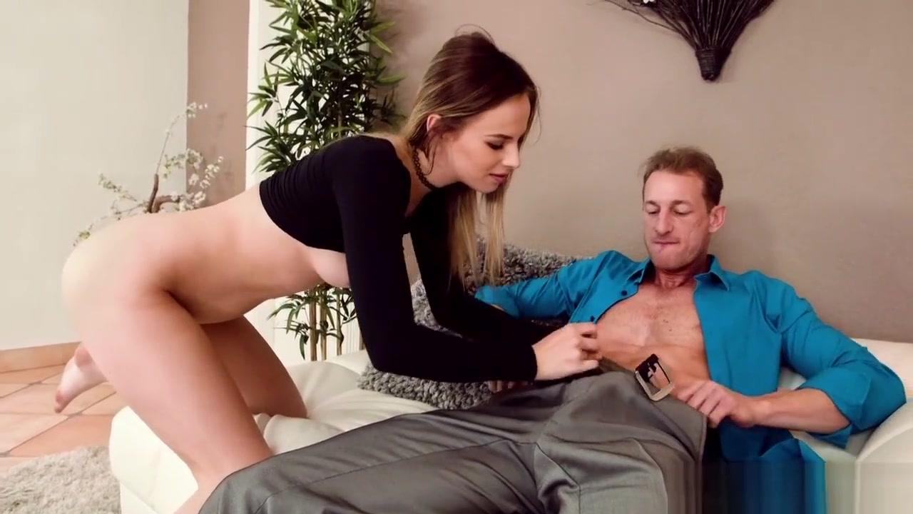 Blonde milf in  stockings sucks and fucks Hot Nude