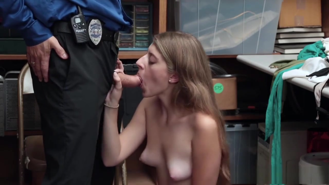 Alyce in Wonderland gets stripped and drilled by the guard