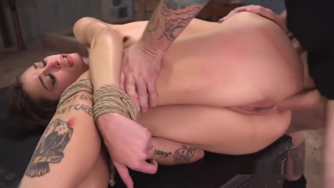 Hogtied Tattooed Slave Anal Fucked