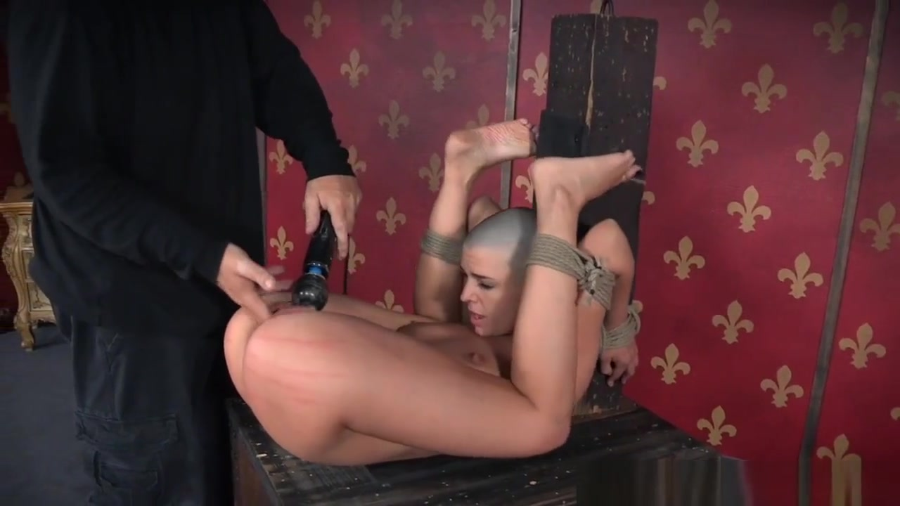 Bald Whore Spanked In Frogtie Position