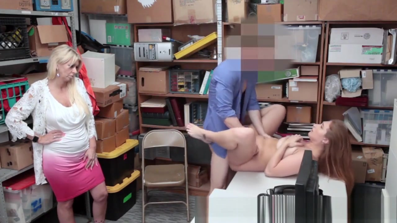 Drilled Teen Shoplifter Double penetration devices