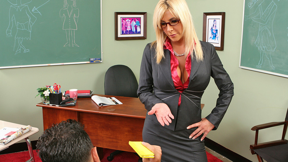 Misty Vonage & Mikey Butders in My First Sex Teacher Super hot black porn