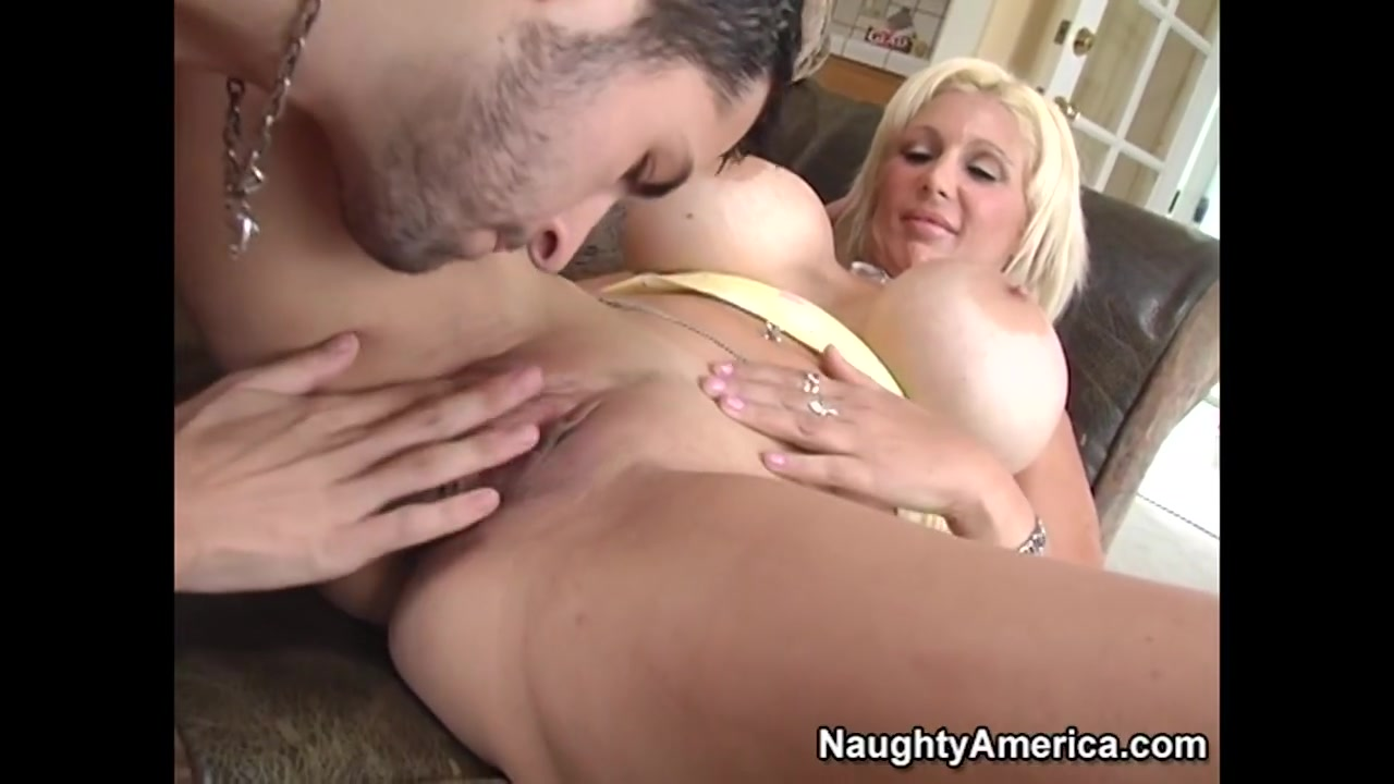 Busty blonde gets boobs massage and cunt finger xXx Images