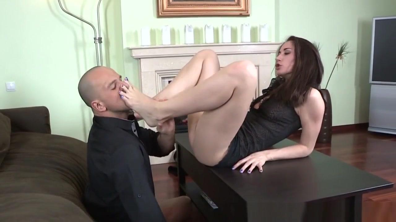 Footjob Slut Sucking Cock