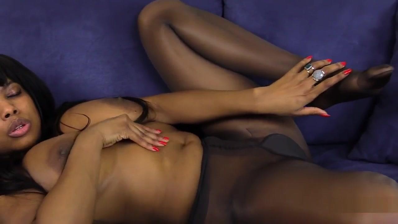 Busty Ebony Janelle Masturbates Selling sex in heaven