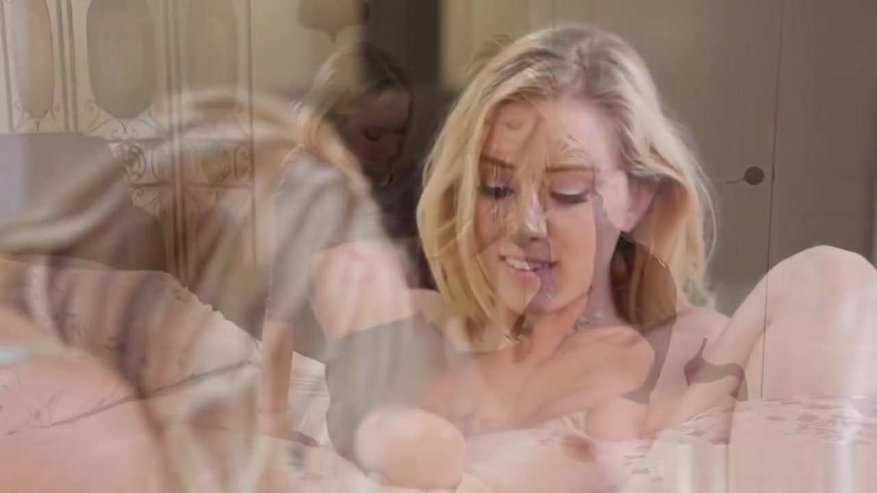 Porn girl seduces girl