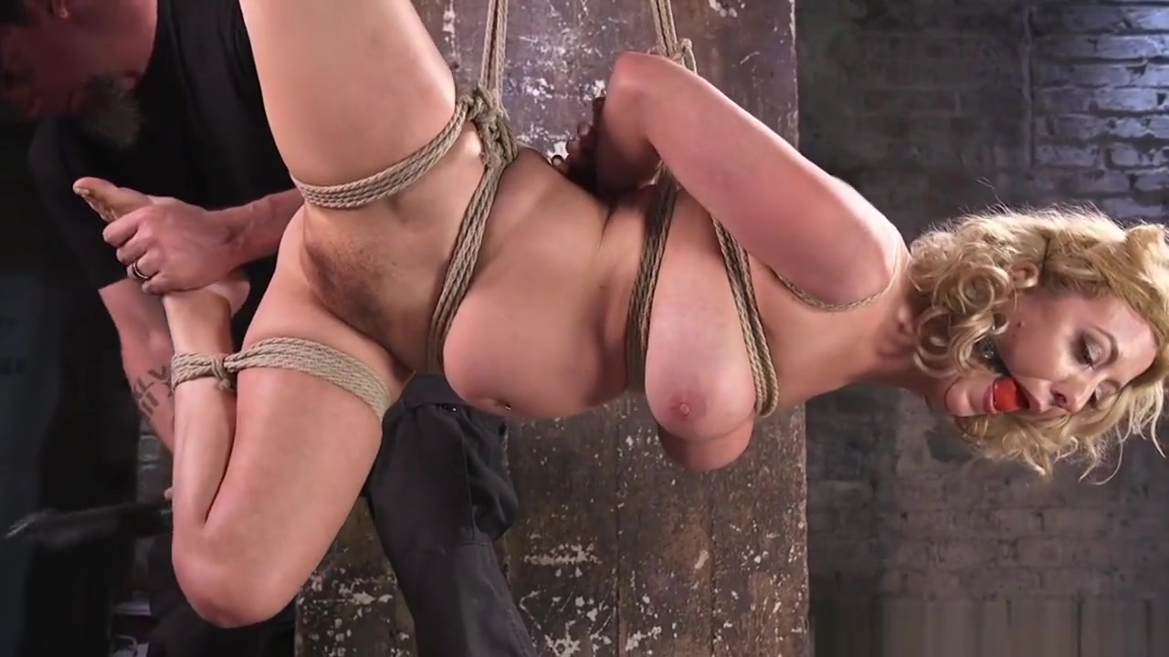 Gagged Slave Fingered While Being Suspended fuk girl by internet