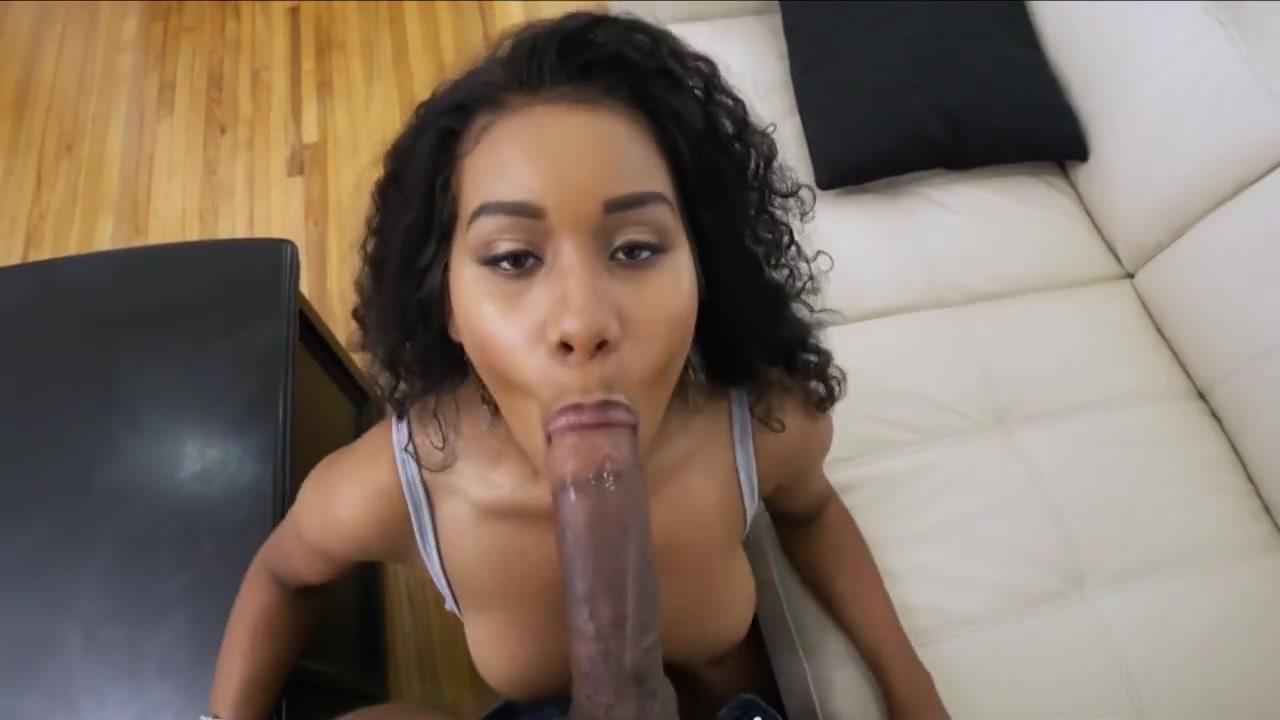 Busty Black Maid Seduce Male Owner