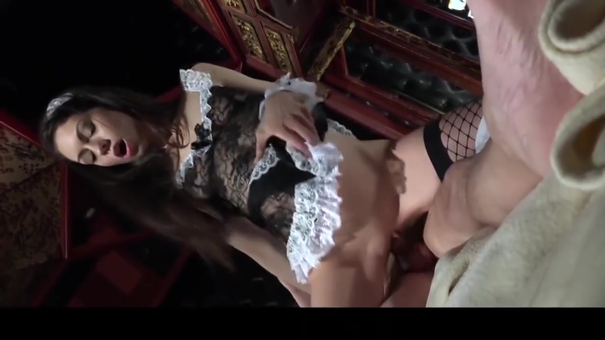 Sexy young maid satify old man with sexual servings Breastfeeding porn sex photos