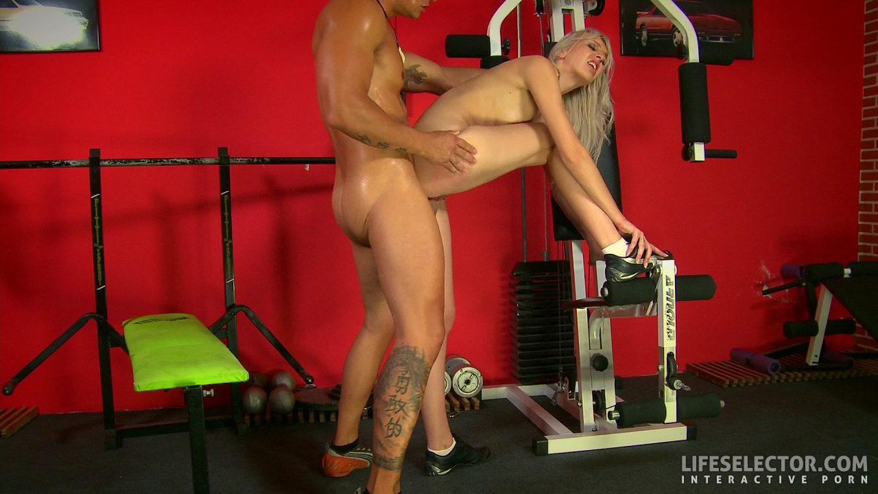 Brutal gym training Hot asian chick sex tape scene 2