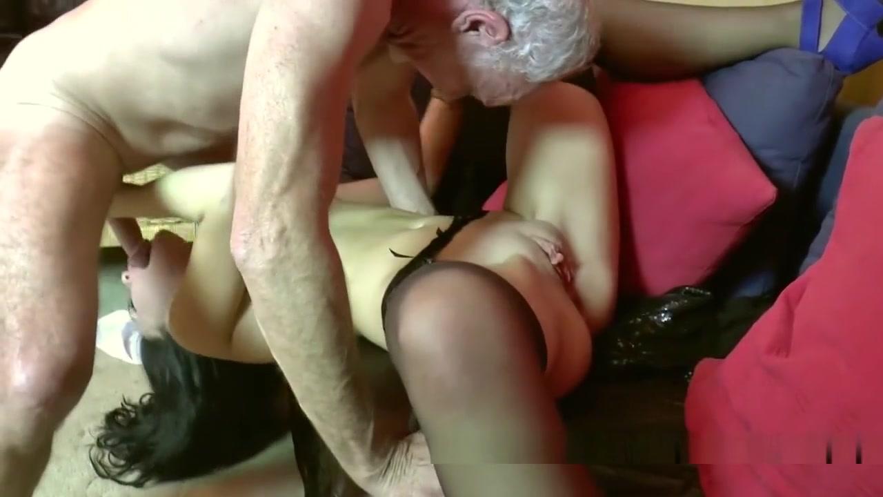 Babe with 60 yr old man at Radlett swingers party Bikini black handjob cock and facial