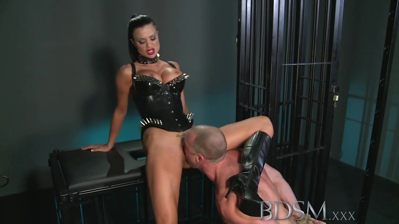 BDSM XXX Muscular sub is caged and humiliated fat japanese no nude