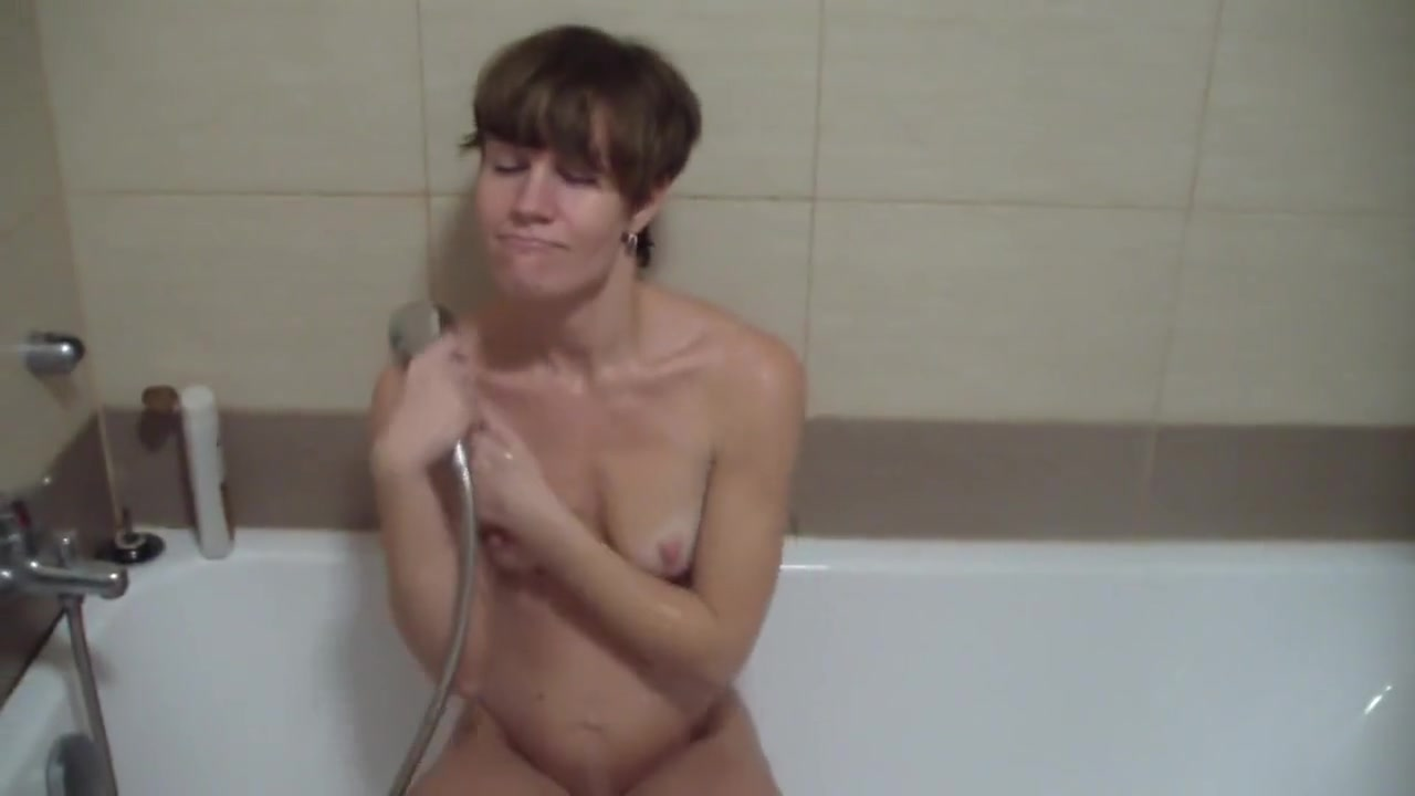 Nika in a bathroom and her play with pussy lesbian older girl strap anal