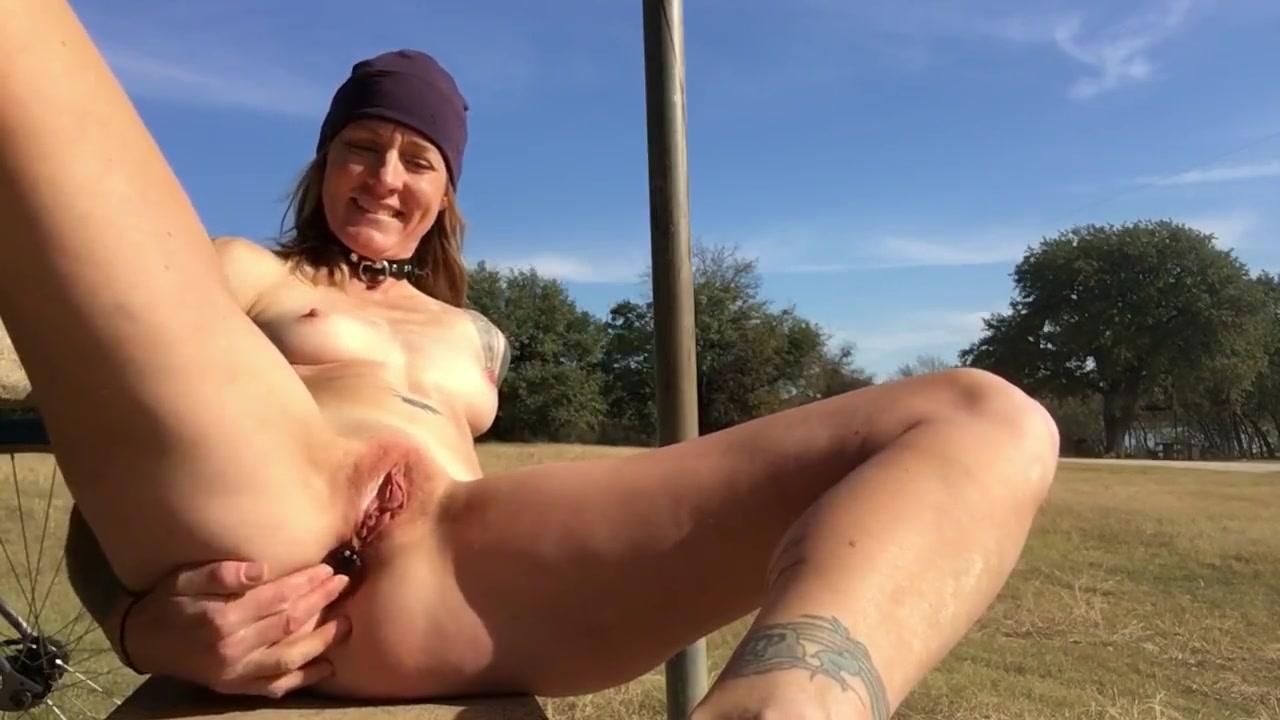 Sunny Outdoor Masturbation Bike Ride European glamour babes toying lesbian pussy