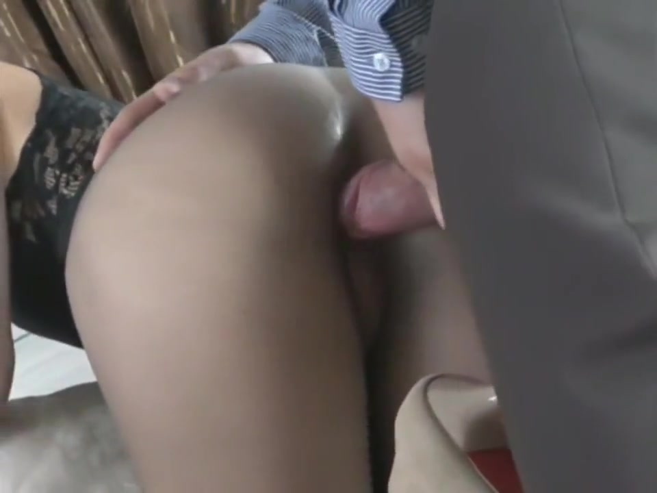 Sexy seamless grey Pantyhose Kedra and eric the midget