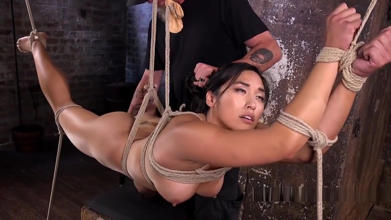 Busty Brunette Slave Vibed In Suspension Mature allure
