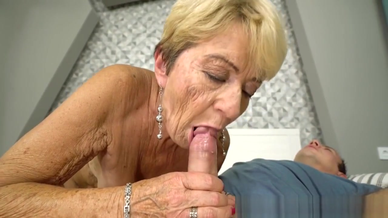 Spunked Grandmother Fucks Nude naked woman young