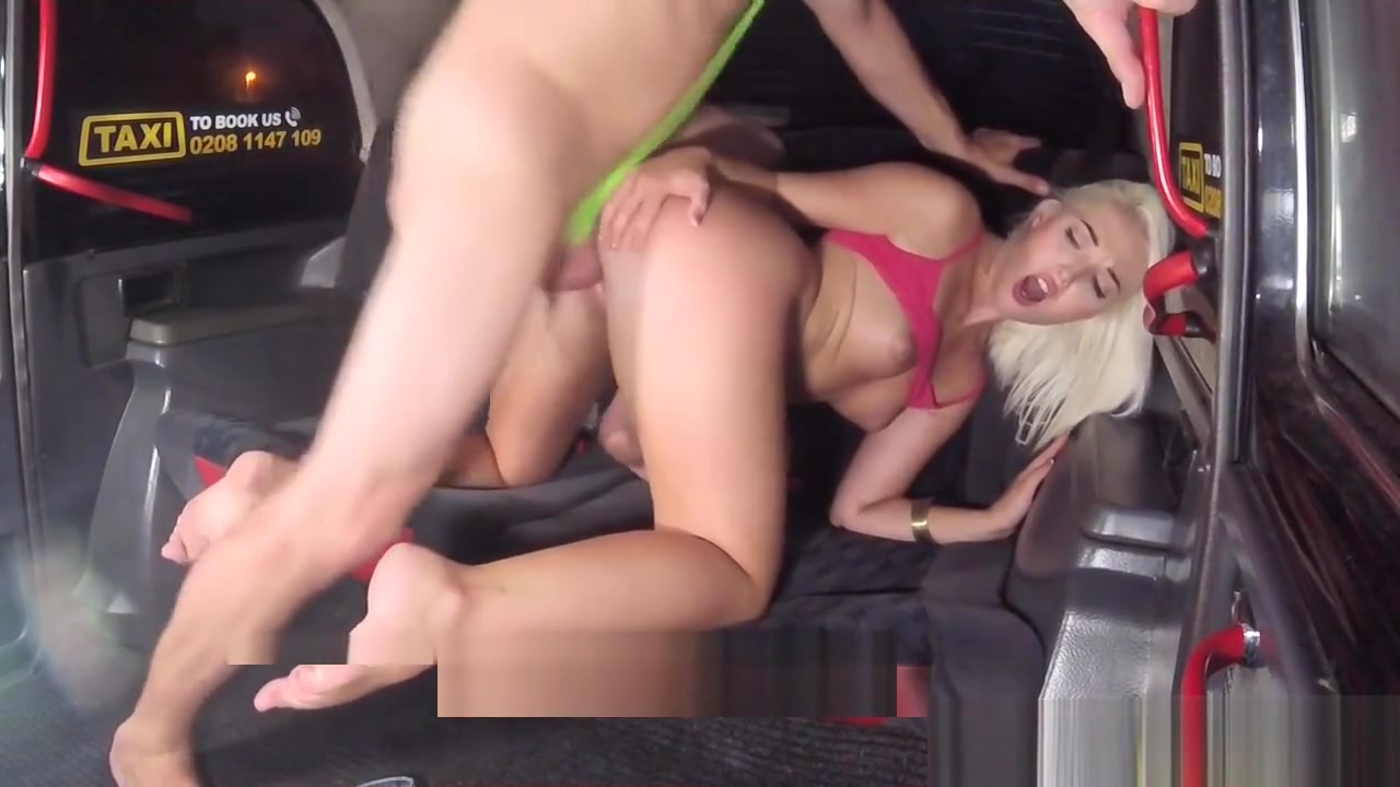 Fake Taxi Sexy Blonde In Tight Denim Shorts With Fishnets Sex with dildo pics