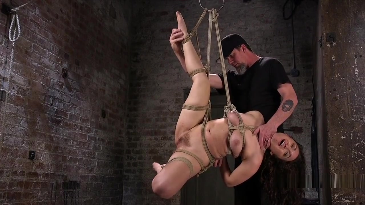 Slave Tied Up On Wooden Ladder Got Anal Big tits ex gf hot