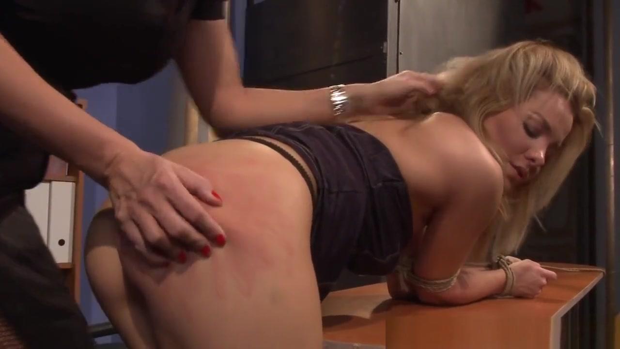 Lezdom Milf Dominates Over Restrained Babe