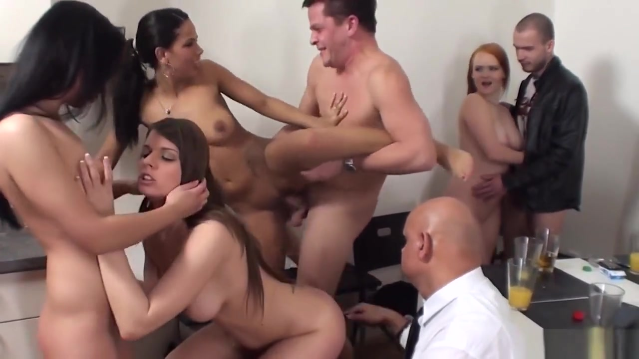Two Horny Guys, Four Slutty Chicks And A Kinky Bald Man To Perfect tits exposed