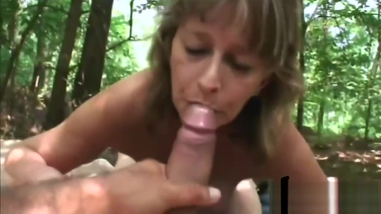 Granny Juditta Jumps On Top Of A Cock Outside