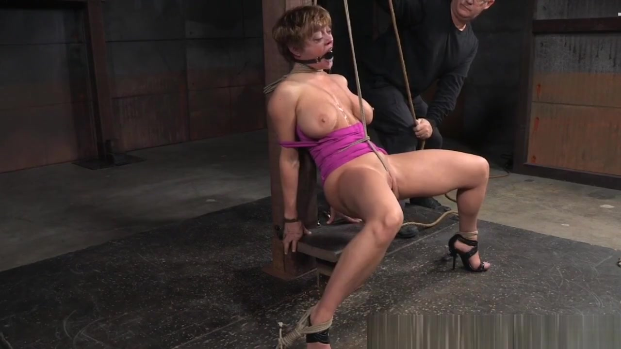 Gagged Submissive Gets Her Bigtits Tormented
