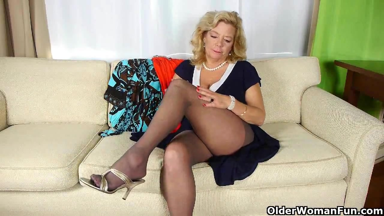 Grandmas night out starts with solo sex