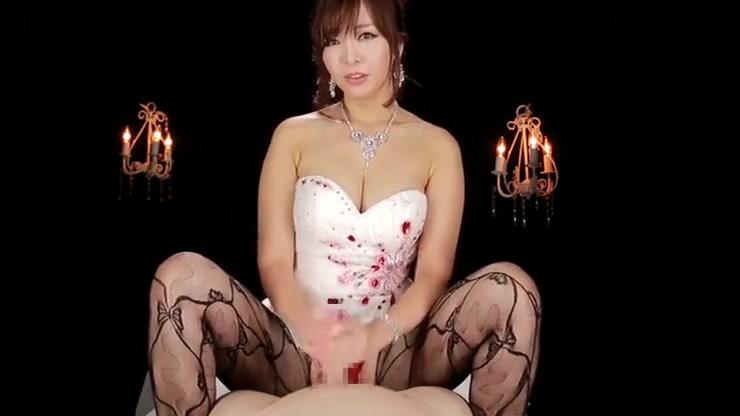 Incredible busty Japanese Kaori performing in handjob XXX video