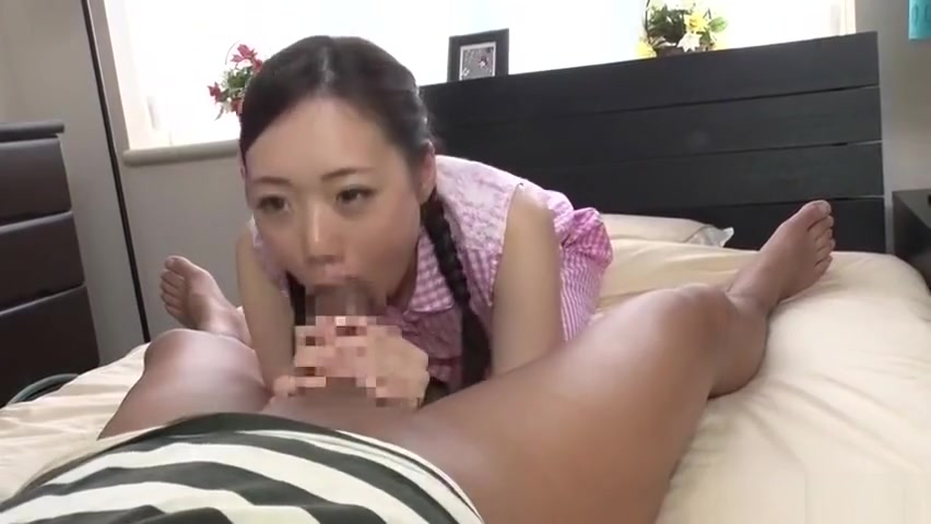 Awesome Japanese young harlot Mao Sena got cumshot in her throat Small ass asian handjob dick and anal
